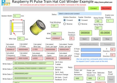 Coil Winder software example