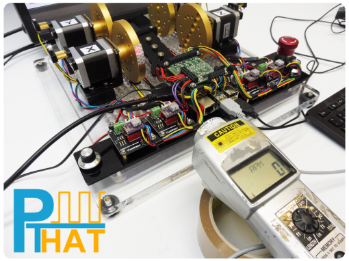 PTHAT High Speed RPM Testing with Nema 17 Motor using Instant Commands