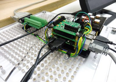 The PTHAT wired back to parallel port output