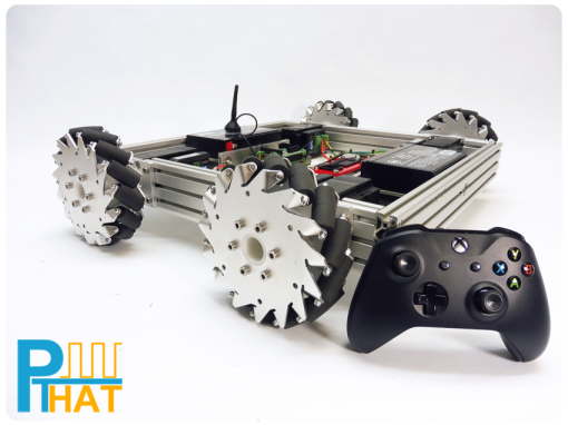 PTHAT Xbox Gamepad Mecanum Bot Example using Instant Commands